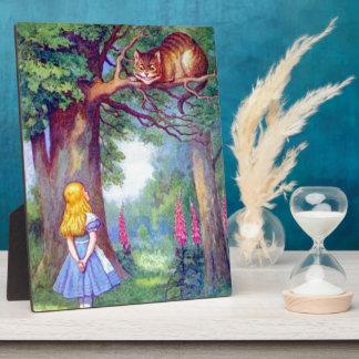 Alicia y el gato de Cheshire a todo color Placas Con Foto