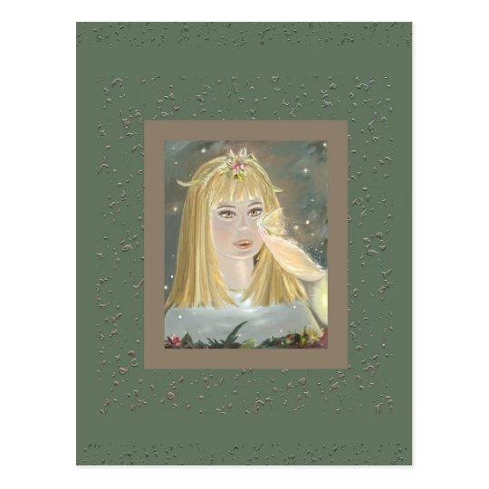 Alicia y la hada de Rosebush, postal