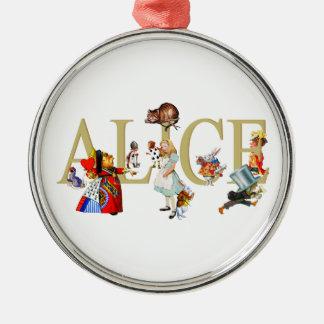 Alicia y país de las maravillas y amigos ornaments para arbol de navidad