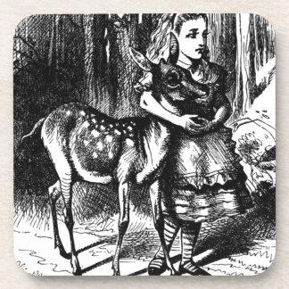 Alicia y un cervatillo posavasos