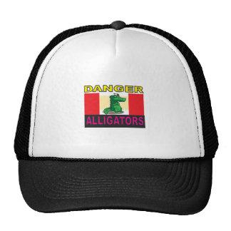 aligators del peligro gorras de camionero