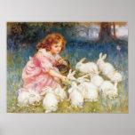 Alimentación de los conejos impresiones