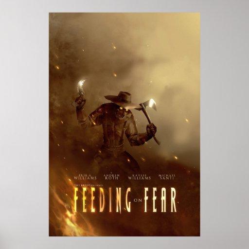 Alimentación en el poster del concepto del miedo