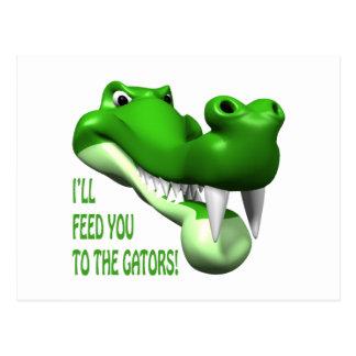 Alimentación enferma usted a los cocodrilos postal