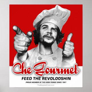 Alimentación gastrónoma de Che el poster de Revolo