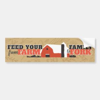 Alimente a su familia de la granja a la pegatina