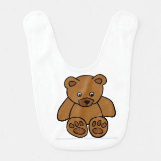Alimente el babero del bebé del oso
