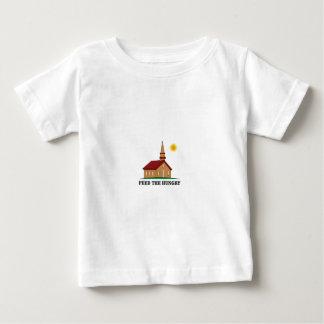alimente el hambriento camiseta de bebé