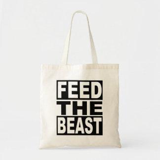 Alimente la bestia bolso de tela