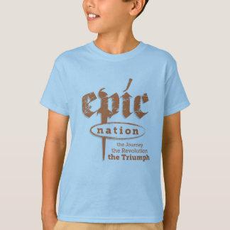 """""""Alimente los niños a nación"""" camiseta"""