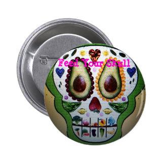 Alimente su botón del cráneo pins
