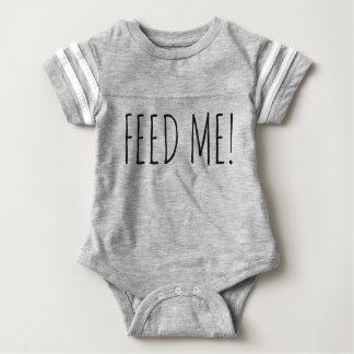 ¡Aliménteme! Durmiente del mameluco del bebé