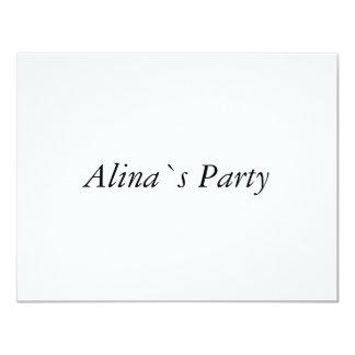 Alina Invitación 10,8 X 13,9 Cm