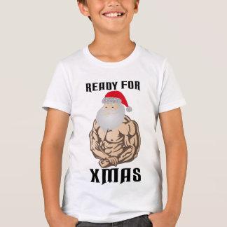 Aliste para el músculo Papá Noel del navidad Camiseta