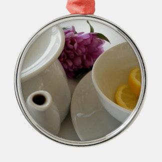 aliste para el té adorno de cerámica
