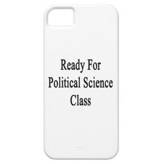 Aliste para la clase de la ciencia política