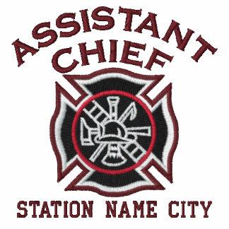 Aliste para personalizar al principal bombero chaquetas bordadas