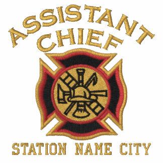 Aliste para personalizar al principal bombero sudaderas embordadas personalizadas