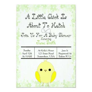 Aliste para tramar la fiesta de bienvenida al bebé invitación 12,7 x 17,8 cm