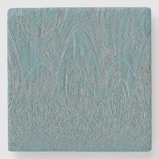 Alivio azul del bosque posavasos de piedra