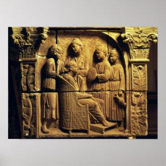 Alivio de Bas de un peluquero, romano Póster