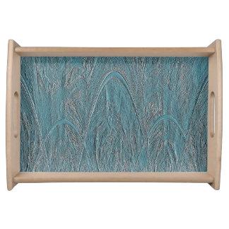 Alivio mágico azul del Ornamental del bosque Bandejas