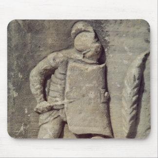Alivio que representa a un soldado romano alfombrilla de ratón