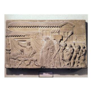 Alivio que representa Dionysus en el hogar de Postal