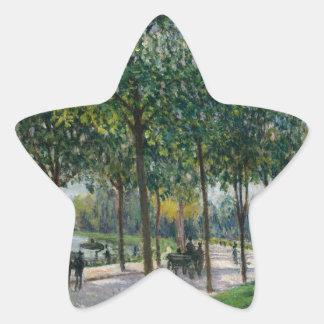 Allée de los árboles de castaña - Alfred Sisley Pegatina En Forma De Estrella