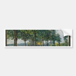 Allée de los árboles de castaña - Alfred Sisley Pegatina Para Coche
