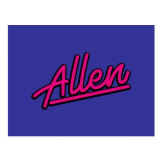 Allen en magenta tarjetas postales