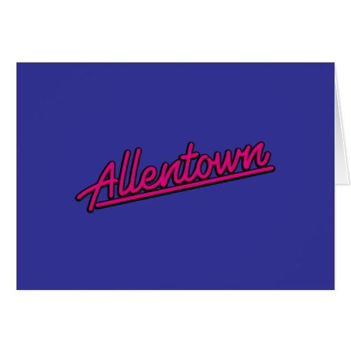 Allentown en magenta tarjetas