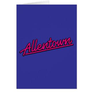 Allentown en magenta felicitación
