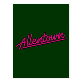Allentown en magenta postales