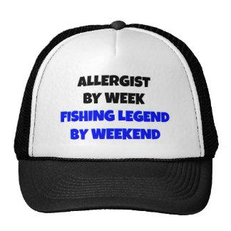 Allergist de la leyenda de la pesca gorras de camionero