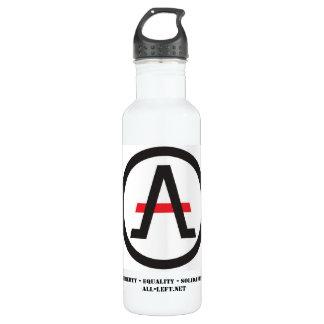 Alliance del libertario a la izquierda de la botella de agua