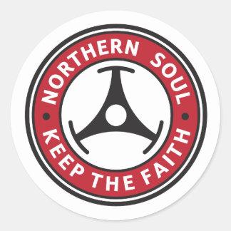 Alma septentrional: Guarde la fe Pegatina Redonda