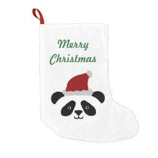 Almacenamiento del navidad de la panda calcetín de navidad pequeño