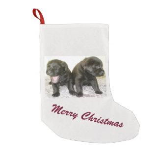 Almacenamiento del navidad de los perritos de calcetín navideño pequeño