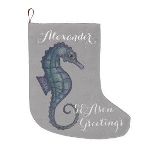 Almacenamiento del navidad de los saludos del calcetín de navidad grande