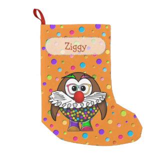 almacenamiento del navidad del búho del payaso calcetín navideño pequeño