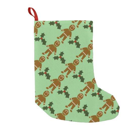 Almacenamiento del navidad del hombre de pan de calcetín de navidad pequeño