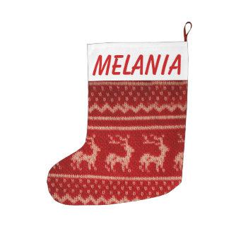 Almacenamiento hecho punto hogar del navidad calcetín de navidad grande