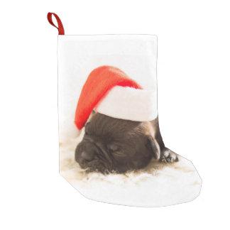 Almacenamiento lindo del navidad del perro de calcetín navideño pequeño