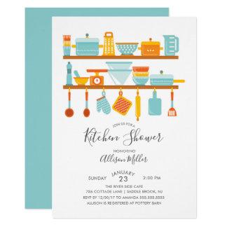 Almacene las invitaciones de la ducha de la cocina