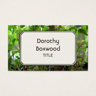 Almácigos botánicos personales de las plantas tarjeta de negocios