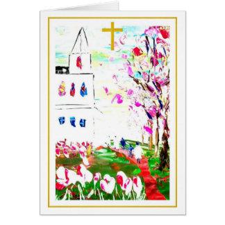 Almas en la floración tarjeta de felicitación