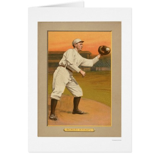 Almirante Schlei Giants Baseball 1911 Felicitaciones