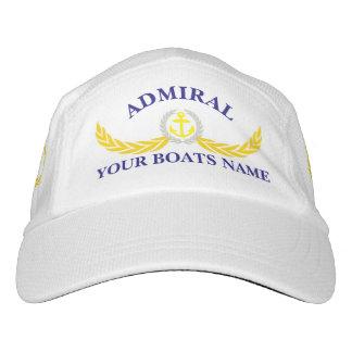 Almirantes y adorno conocido del ancla del barco gorra de alto rendimiento