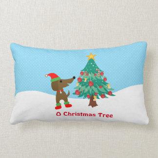 """Almohada 13"""" del algodón de árbol de navidad del"""